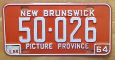 New Brunswick 1965 License Plate HIGH QUALITY # 50-026