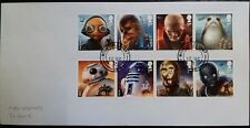 Set of very fine used 2017 GB Star Wars stamps on envelope