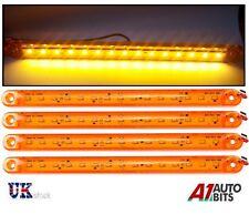 4X Orange Amber 24V 15 LED Side Marker Indicator Lights For Man Daf Scania Volvo