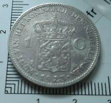 G01202 monnaie royale 1 gulden 1923 pays bas whilhelmina koningin argent