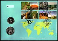 2005: World Heritage Sites - Joint Australia/UK .50c/.50p RAM PNC