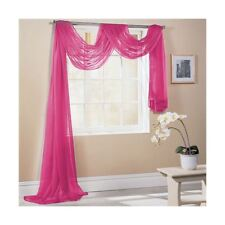 cerise rose 150x300cm SUR MESURE écharpe de fenêtre voile lambrequin