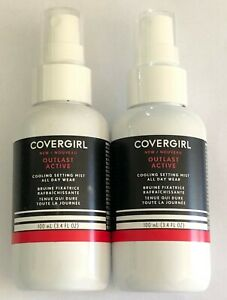 (2) Covergirl Outlast Active Cooling Setting Mist All Day Wear