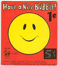 Standard Specialty Nice Day Smile Gum Ball Machine Vending Display Card 60s New