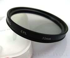 52mm CPL Circular Polarizing lens Filter for nikon D3200 D5100 18-55 55-200MM