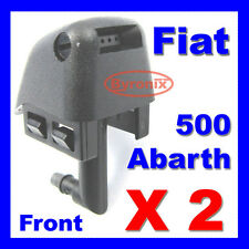 FIAT 500 ABARTH 500 FRONT WINDSCREEN WATER WASHER JETS X 2 SPRAY NOZZLE