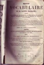 Dictionnaire de français de 1851 !  Nouveau vocabulaire ! Ed Ardant !