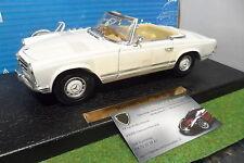 MERCEDES BENZ 280 SL cabriolet blanc au 1/18 ANSON 30389 voiture miniature
