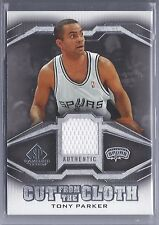 2007-2008 SP Game Used Basketball Tony Parker Cut from the Cloth Spurs Jsy Card