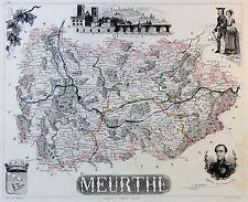 Meurthe / Fluss - grenzkolorierter Kupferstich - ca. 1840 - Isidore -Villerey(07