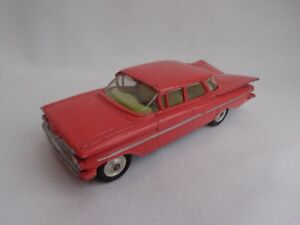 Vintage 1960's Corgi Toys No220 Chevrolet Impala SALMON PINK RARE VGC!