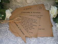 SAMPLE OF A PERSONALISED VINTAGE RUSTIC WEDDING INVITATION PACKAGE