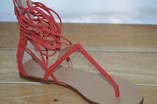 NIB SIGERSON MORRISON Womens BRAZE Red/Orange Suede Sandals Size 10 EUR 40