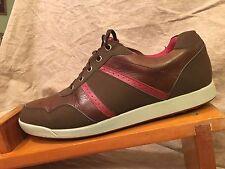 FOOT JOY Men Golf Cleats Contour Leather SPIKE LESS GOLF Shoes 12 Medium