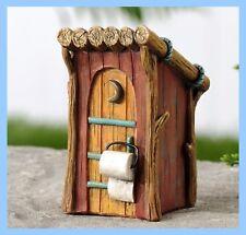 Fairy Garden Miniature  OUT HOUSE Outhouse Woodland Dollhouse Figurine  089