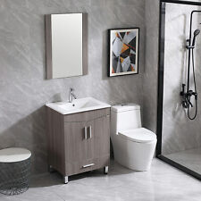 24 inch Bathroom Vanity Cabinet Base Shaker Style with Sink & Faucet, Soft-Close