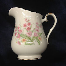 ROYAL ALBERT PARKLAND CREAMER 12 OZ PINK FLOWERS FOR ALL SEASONS GOLD TRIM