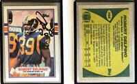 Robert Delpino Signed 1989 Topps #125 Card Los Angeles Rams Auto Autograph