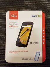 Motorola MOTO E - 8GB - Black VERIZON PREPAID  Smartphone NEW
