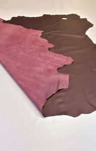 Leather Cowhide Burgundy Smooth Automotive Home 56 SqFt Upholstery Craft Hide