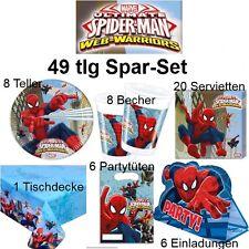 49 tlg. Spar-Set SPIDERMAN Ultimate Kinder Geburtstag Party Deko