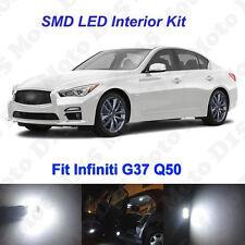 13x White LED Interior + License Plate Bulbs Kit  for 2007-2015 Infiniti G37 Q50