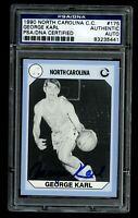 George Karl signed autograph North Carolina Collegiate Collection PSA Slabbed