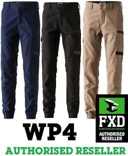 FXD WORK PANTS WP4 WP-4 WORKWEAR COTTON STRETCH CUFF NEW TRADIES ELASTIC CUFF