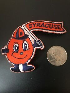"SU Syracuse Orangemen Vintage Embroidered Iron On Patch Old Stock 3.5"" X 2.5"""