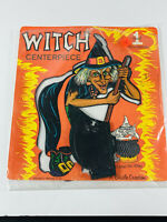 Vintage Halloween Beistle Witch Centerpiece NOS in package w/ honeycomb