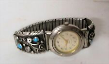 Ventage H SPENCER STERLING Navajo Artisan Genuine Turquoise LaScala WATCH