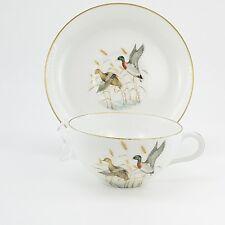 Cup Saucer Set Vintage Porcelaine de Paris Limoges France Mallard Duck Game Bird
