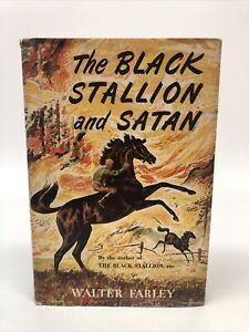 The Black Stallion and Satan by Walter Farley HC DJ 1949 1st ed 2nd print VG