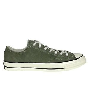 New Converse CTAS 70 Ox Size 12 Men's Fuzzy Suede Olive Green 157588C