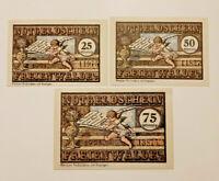 FREIENWALDE (POLEN CHOCIWEL) NOTGELD 25,50,75 PFENNIG 1921 NOTGELDSCHEINE (11557