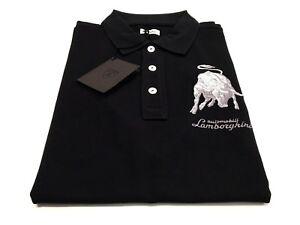Mens Automobili Lamborghini 1963 Bull Polo Shirt black / silver