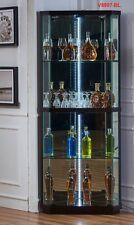 brand new Glass & wood mirrored Display Cabinet Show Case Storage Corner Cabinet