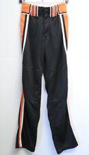 Unisex Boombah Baseball Pants Black Orange White Size 26 x 32