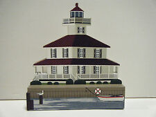 Shelia'S Signed New Canal Light Wooden Collectible