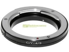 Anello adapter x montare ottiche Contax/Yashica su corpi 4/3 Adattatore. A43
