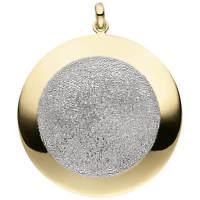 Anhänger glitzernder Halsschmuck aus 925 Silber gelbvergoldet teilrhodiniert