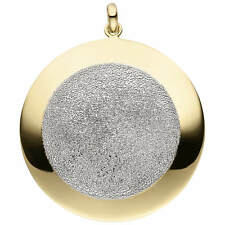 Pendant Glittering Necklace 925 Silver Yellow - Gold Plated Partly Rhodium