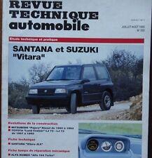 SANTANA et SUZUKI VITARA 4X4 Revue technique RTA 553 1993 + PAJERO LAND CRUISER