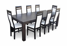 Designer Dining Table +8 Chairs Room Group Wood New 450cm