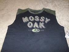 Mossy Oak Mens Hunting Deer Black & Green Tank Top T-Shirt Size XL