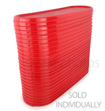 Tupperware Modular Mates Super Oval Seal Replacement Lid in Popsicle Red - NEW!