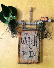 The Witch Is In.....Halloween Sign......recycled pallet wood for all the Witches