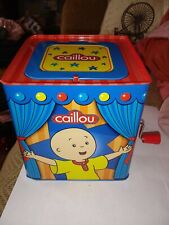 2012 Caillou Jack in the Box Hand Crank Music Cookie Jar Entertainment Pbs Kids!