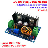 200W 8A DC-DC Step Down Converter 4V-40V to 1.25V-36V 12V Adjustable Buck Module