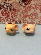 New listing Littlest Pet Shop Lps #261 Pair Of Blonde Tan Hamster Gerbil Guinea Pig Figure